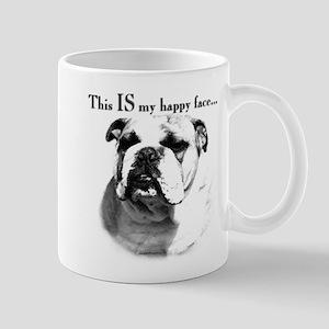 Bulldog Happy Face Mug