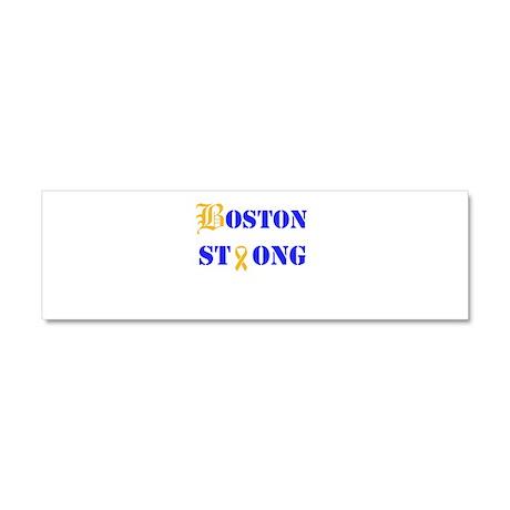 Boston Strong Stylized B Ribbon Car Magnet 10 x 3