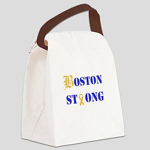 Boston Strong Stylized B Ribbon Canvas Lunch Bag