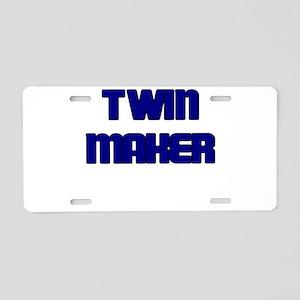 TWIN MAKER BLUE Aluminum License Plate