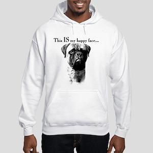 Bullmastiff Happy Face Hooded Sweatshirt
