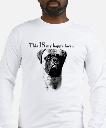 Bullmastiff Happy Face Long Sleeve T-Shirt