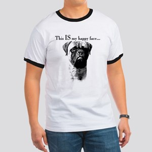 Bullmastiff Happy Face Ringer T