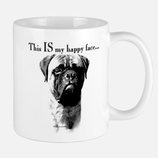 Bullmastiff Happy Face Mug
