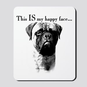Bullmastiff Happy Face Mousepad