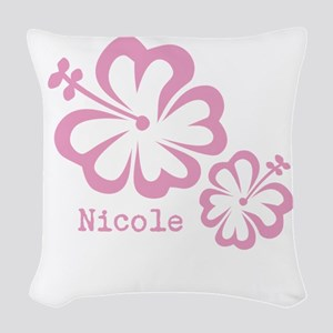 Customized (add your name) Hibiscus Print Woven Th