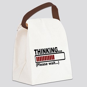 thinking,please wait Canvas Lunch Bag