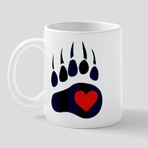 Leather Bear Paw Mug