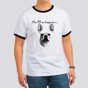 Frenchie Happy Face Ringer T