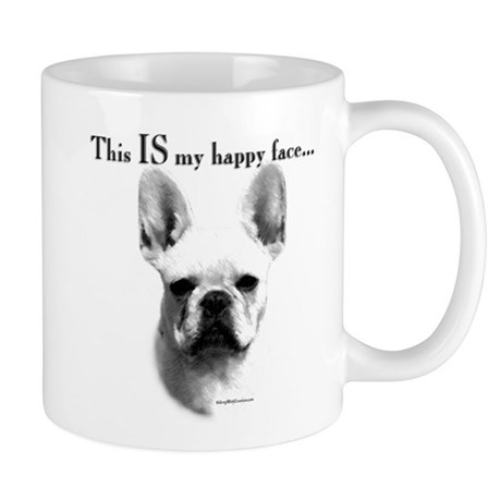 Frenchie Happy Face Mug
