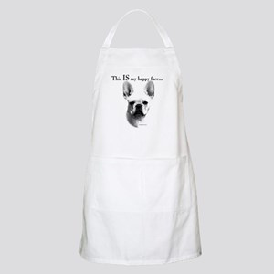 Frenchie Happy Face BBQ Apron