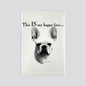 Frenchie Happy Face Rectangle Magnet