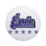 Epee Fencing Ornament (Round)