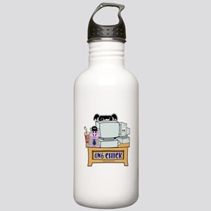 NCIS Abby 4N6 Chick Water Bottle