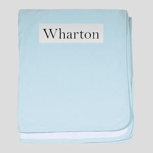 Wharton baby blanket