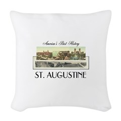 St. Augustine Americasbesthist Woven Throw Pillow