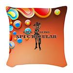 Spectacular Girl Woven Throw Pillow