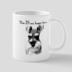 Schnauzer Happy Face Mug