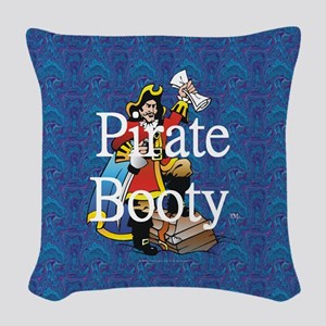 Pirate Booty Woven Throw Pillow