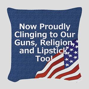 proudlipstickmino Woven Throw Pillow