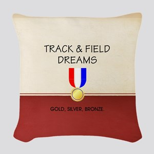 Track & Field Dreams Woven Throw Pillow