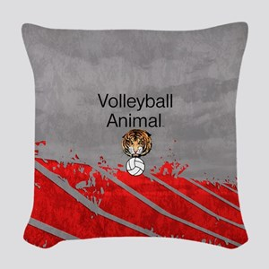 Volleyball Animal Woven Throw Pillow