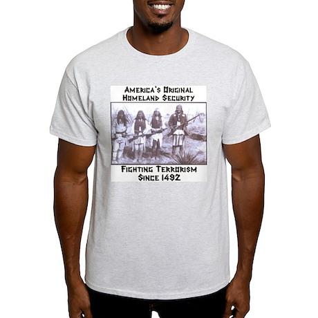 """America's Original Homeland Security"" Ash Grey T-"