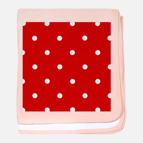 'Cherry Red' baby blanket