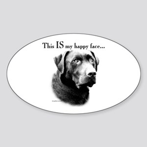Lab Happy Face Oval Sticker