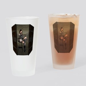 Dungeon Door Mistress Drinking Glass