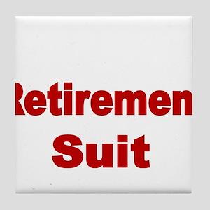 Retirement Suit Tile Coaster