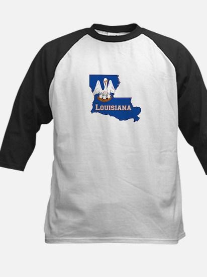 Louisiana Flag Kids Baseball Jersey