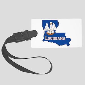 Louisiana Flag Large Luggage Tag