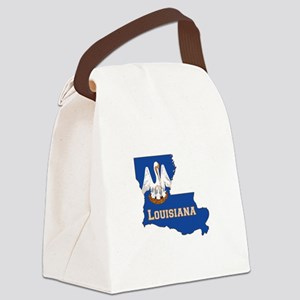 Louisiana Flag Canvas Lunch Bag
