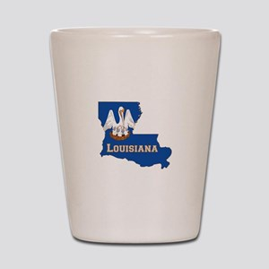 Louisiana Flag Shot Glass