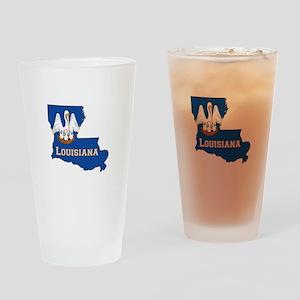 Louisiana Flag Drinking Glass