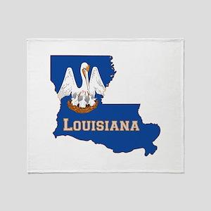 Louisiana Flag Throw Blanket