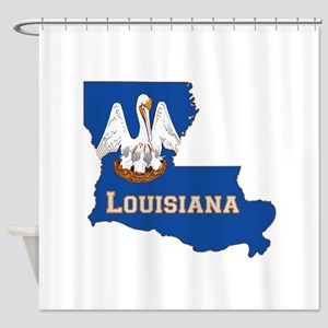 Louisiana Flag Shower Curtain