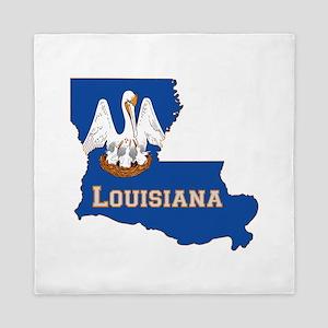 Louisiana Flag Queen Duvet