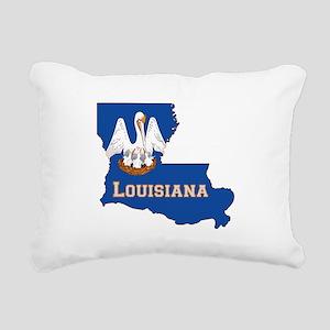 Louisiana Flag Rectangular Canvas Pillow