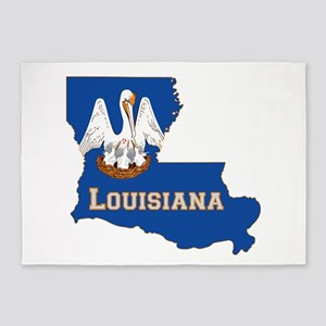 Louisiana Flag 5'x7'Area Rug