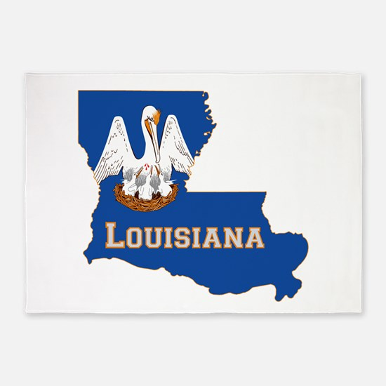 Louisiana Flag 5'x7'Area Rug