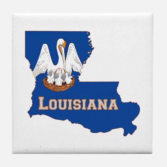 Louisiana Flag Tile Coaster
