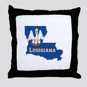 Louisiana Flag Throw Pillow