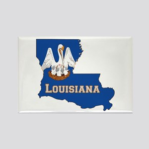 Louisiana Flag Rectangle Magnet