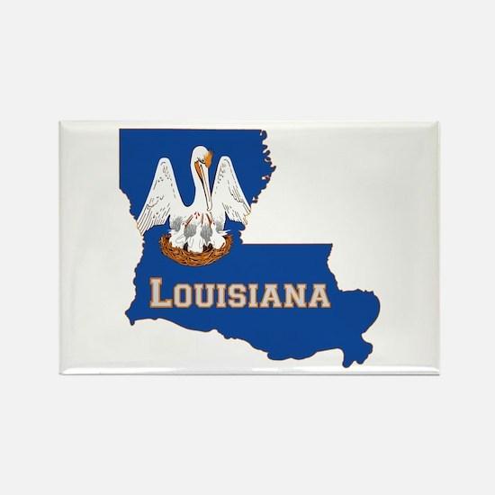 Louisiana Flag Rectangle Magnet