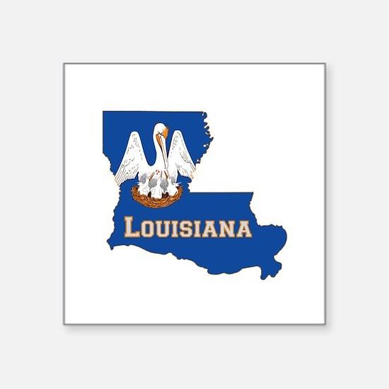 "Louisiana Flag Square Sticker 3"" x 3"""