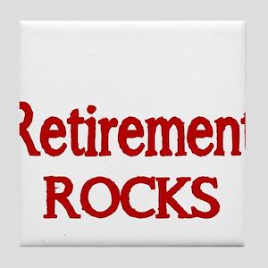 Retirement Rocks-red Tile Coaster