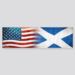 Scottish American Flags Bumper Sticker
