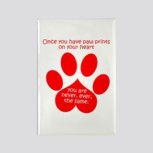 Paw Prints Rectangle Magnet